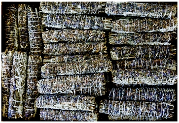 "Wholesale White Sage with Lavender Flowers Smudge 7""L (Medium) (Pack of 50)"