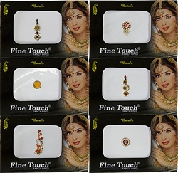 Wholesale Fine Touch Fancy Bindi Body Dot Exclusive Assorted (Set of 6)