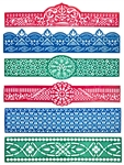 "Wholesale Heena Tattoo Stencil Band 1.5""x7"" (Set of 6)"