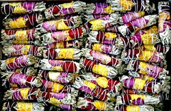 "Wholesale White Sage with Rose Petals Smudge 4""L (Mini) (Pack of 50)"