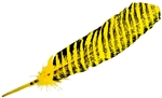 "Wholesale Turkey Feather Dyed Yellow Banded 11-13""L"