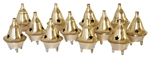 "Wholesale Brass Cone Burners 2""H (Set of 12)"