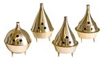 "Wholesale Brass Cone Burners 3.5""H (Set of 4)"