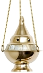 "Wholesale Brass Mother of Pearl Hanging Censer Burner 5""H"
