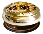 "Wholesale Brass Screen Charcoal Burner 3""D"