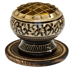 "Wholesale Brass Carved Screen Charcoal Burner 2.5""D"