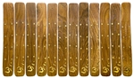 "Wholesale Wooden Ash Catcher Brass Inlay Om 10""L (Set of 12)"