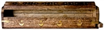 "Wholesale Wooden Coffin Box Star & Moon 12""L"