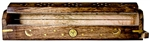 "Wholesale Wooden Coffin Box Sun, Moon & Star 12""L"