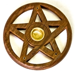 "Wholesale Wooden Burner Pentacle Cone & Stick 4""D"