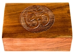 "Wholesale Wooden Om Carved Box 4""x6"""