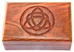 "Wholesale Wooden Triquetra Carved Box 4""x6"""