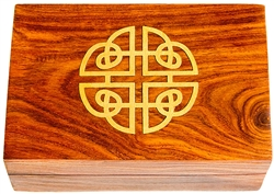 "Wholesale Wooden Celtic Brass Inlay Box 4""x6"""