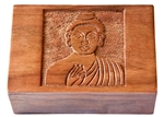 "Wholesale Wooden Buddha Carved Box 4""x6"""