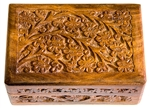 "Wholesale Wooden Floral Carved Box 4""x6"""