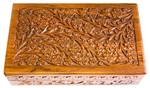 "Wholesale Wooden Floral Carved Box 6""x10"""