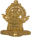 "Wholesale Goddess Laxmi Gold Tone Brass Statue 3.75""H"
