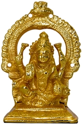 "Wholesale Goddess Laxmi Gold Plated Brass Statue 4.5""H"