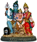 "Wholesale Lord Shiva Family Polyresin Statue 6""H"