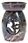 "Wholesale Natural Soapstone Om Aroma Lamp 5""H"