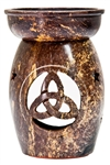 "Wholesale Natural Soapstone Triquetra Aroma Lamp 5""H"