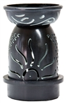 "Wholesale Black Soapstone Sun Carved Aroma Lamp 5""H"