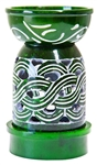 "Wholesale Green Soapstone Carved Aroma Lamp 5""H"