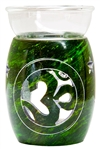 "Wholesale Green Soapstone Om Aroma Lamp 5""H"