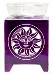 "Wholesale Violet Soapstone Sun Carved Aroma Lamp 5""H"