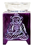 "Wholesale Violet Soapstone Buddha Carved Aroma Lamp 5""H"
