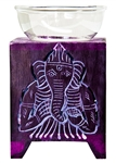 "Wholesale Violet Soapstone Ganesh Carved Aroma Lamp 5""H"