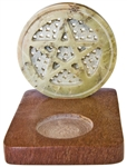 "Wholesale Natural Soapstone Pentacle Candle Burner 4""x3""x3.25"""