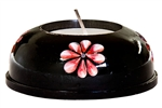 "Wholesale Black Soapstone Painted Candle Burner 3""D"