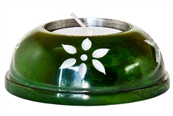 "Wholesale Green Soapstone Candle Burner 3""D"