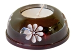"Wholesale Brown Soapstone Candle Burner 3""D"