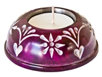 "Wholesale Violet Soapstone Candle Burner 3""D"