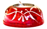 "Wholesale Red Soapstone Candle Burner 3""D"