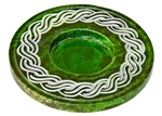 "Wholesale Green Soapstone Celtic Knot Candle Burner 4""D"