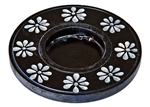 "Wholesale Black Soapstone Candle Burner 4""D"