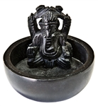"Wholesale Black Soapstone Ganesh Incense Burner 3""D, 2.5""H"