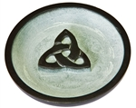 "Wholesale Black Soapstone Triquetra Incense Burner 4""D"