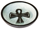 "Wholesale Black Soapstone Ankh Incense Burner 4""D"