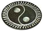 "Wholesale Black Soapstone Yin Yang Incense Burner 4""D"""