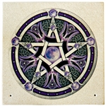 "Wholesale Sandstone Pentacle Incense Burner 4""x 4"""