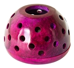 "Wholesale Pink Soapstone Candle Burners 4""D, 2.5""H"