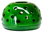 "Wholesale Green Soapstone Candle Burners 4""D, 2.5""H"