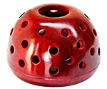 "Wholesale Red Soapstone Candle Burners 4""D, 2.5""H"