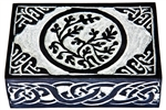"Wholesale Tree of Life with Celtic Knot Black Soapstone Box 4""x6"""