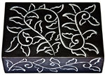 "Wholesale Vine Black Soapstone Box 4""x6"""