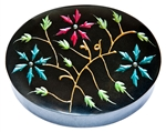"Wholesale Floral Black Soapstone Box 3""x4"""